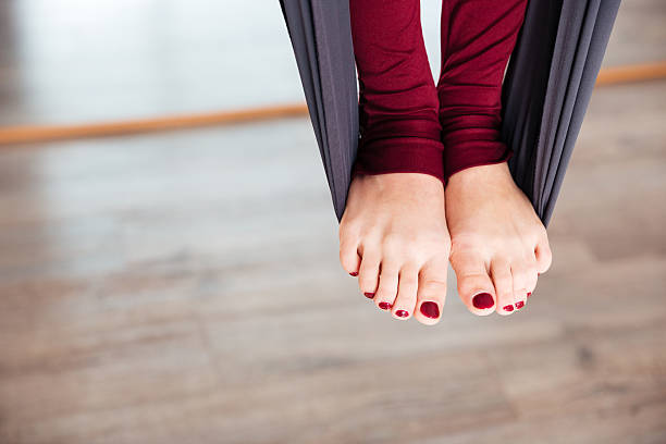 Mina's Naked Yoga Toes